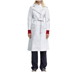 Acne Studios Seven Belted Leather Trench Coat
